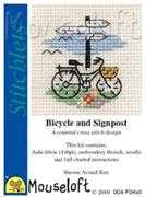 Bicycle and Signpost - Mouseloft Cross Stitch Kit