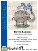 Mouseloft Playful Elephant Cross Stitch Kit
