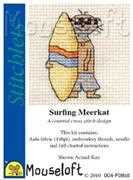 Mouseloft Surfing Meerkat Cross Stitch Kit