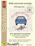 Mouseloft Driving Test Congrats Cross Stitch Kit