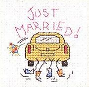 Mouseloft Just Married Wedding Sampler Cross Stitch Kit