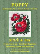 Abacus Designs Poppy Embroidery Kit