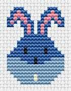 Easy Peasy Bunny Head - Fat Cat Cross Stitch Kit