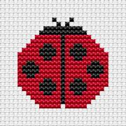 Easy Peasy Ladybird - Fat Cat Cross Stitch Kit