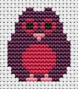 Easy Peasy Owl - Fat Cat Cross Stitch Kit