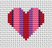 Easy Peasy Heart - Fat Cat Cross Stitch Kit