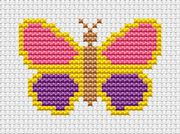 Sew Simple Butterfly - Fat Cat Cross Stitch Kit