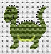 Sew Simple Dinosaur - Fat Cat Cross Stitch Kit