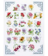 Floral Alphabet - Anchor Cross Stitch Kit