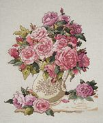 Design Works Crafts China Roses Cross Stitch Kit