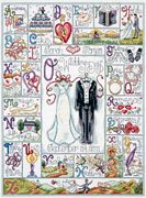 Design Works Crafts Wedding ABC Wedding Sampler Cross Stitch Kit