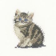 Tabby Kitten - Evenweave - Heritage Cross Stitch Kit