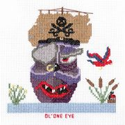 Abacus Designs Ol' One Eye Cross Stitch Kit