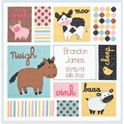 Barn Babies Birth Record - Dimensions Cross Stitch Kit