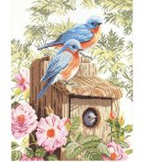 Lanarte Bird House - Aida Cross Stitch Kit