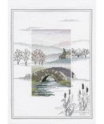 Derwentwater Designs Winter Bridge Cross Stitch Kit