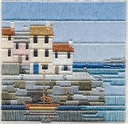 Derwentwater Designs Fishermen's Cottages Long Stitch Kit