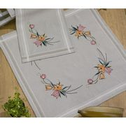Elegant Tulips Tablecloth - Permin Embroidery Kit