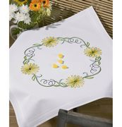 Permin Green Daisy Tablecloth Embroidery Kit