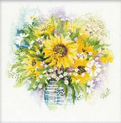 Watercolour Sunflowers - RIOLIS Cross Stitch Kit