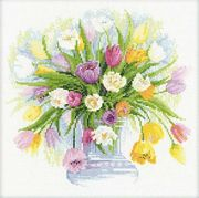 RIOLIS Watercolour Tulips Cross Stitch Kit