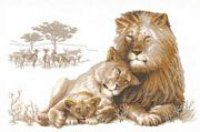 RIOLIS The Lion Paradise Cross Stitch Kit