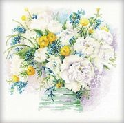 RIOLIS Watercolour Peonies Cross Stitch Kit