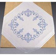 Permin Blue Rose Tablecloth Cross Stitch Kit
