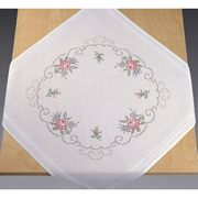 Bouquets of Roses Tablecloth - Permin Cross Stitch Kit
