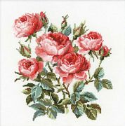 RIOLIS Garden Roses Cross Stitch Kit