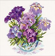 RIOLIS Irises in Vase Cross Stitch Kit