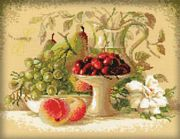 RIOLIS Still Life with Sweet Cherries Cross Stitch Kit