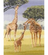 Giraffes - Evenweave - Heritage Cross Stitch Kit