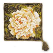 White Peony Cushion - RIOLIS Cross Stitch Kit