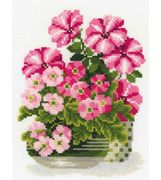 RIOLIS Petunias and Primroses Cross Stitch Kit