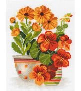 Nasturtiums and Marigolds - RIOLIS Cross Stitch Kit