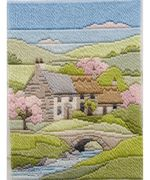 Derwentwater Designs Cottages Spring Long Stitch Kit