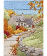 Derwentwater Designs Cottages Autumn Long Stitch Kit