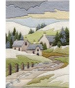 Derwentwater Designs Cottages Winter Long Stitch Kit