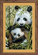 RIOLIS Panda with Young Cross Stitch Kit