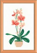 RIOLIS Yellow Orchid Cross Stitch Kit