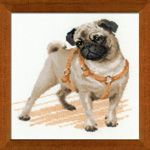 RIOLIS Pug Dog Cross Stitch Kit