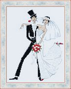 RIOLIS Wedding Tango Wedding Sampler Cross Stitch Kit