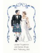 Heritage Scottish Wedding - Aida Wedding Sampler Cross Stitch Kit