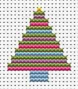Easy Peasy Christmas Tree - Fat Cat Cross Stitch Kit