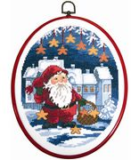 Santa Stars - Permin Cross Stitch Kit