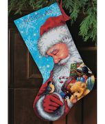 Santa and Toys Stocking - Dimensions Tapestry Kit
