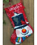 Snowman and Friends Stocking - Dimensions Tapestry Kit