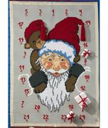 Permin Santa and Bear Advent Christmas Cross Stitch Kit