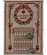 Christmas Wreath Advent - Natural - Permin Cross Stitch Kit